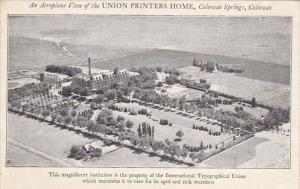 Colorado Colorado Springs Aerial View Union Printers Home