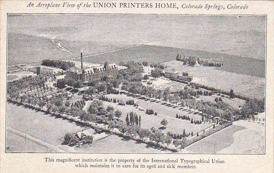 Colorado Colorado Springs Aerial View Union Printers Home