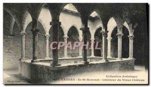 Old Postcard Cannes Ille St Honorat Interieur du Vieux Chateau