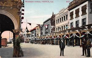 Windward Avenue, Venice, California, Early Postcard, Unused