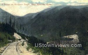 S Bridge, Northern Pacific Missoula MT 1922 Missing Stamp