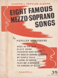 Eight Famous Mezzo Soprano Songs Liza Lehmann Dorothy Forster Olde Sheet Music