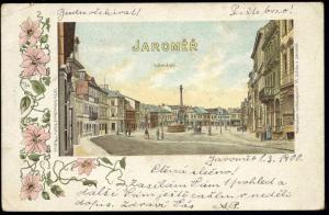 czech, JAROMER JERMER, Street Scene, Square (1900)