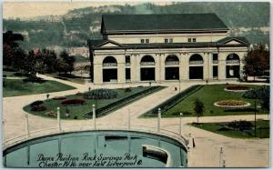 1910s Chester, WV Postcard Dance Pavilion, ROCK SPRINGS PARK Amusement Park