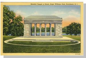 Providence,Rhode Island/RI Postcard,Rog Williams Park/Temple