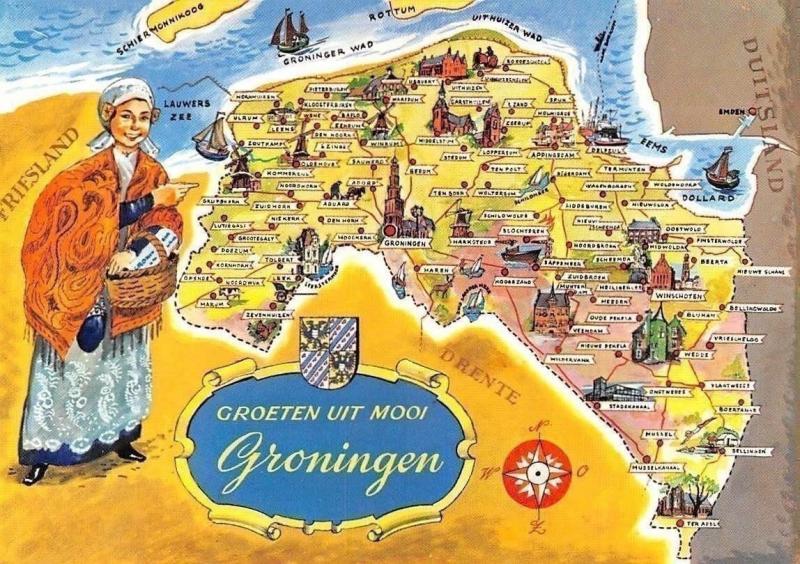 Netherlands groeten uit mooi Groningen Map, Kirche