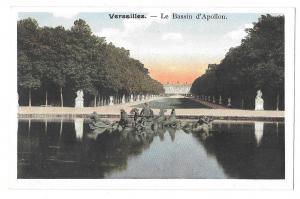 France Versailles Palace Fountain of Apollo Vntg Postcard