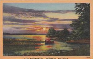 Wisconsin Edgerton Scene On Lake Koshkonong 1958