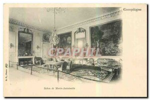 Old Postcard Marie Antoinette Salon Compiegne