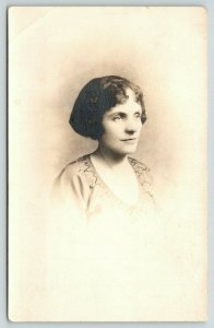 RPPC 2 Vignette Portraits~Lucille Riddle Fry~Aunt Callu~Mary Brown? Paddick~1914