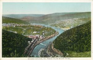 Mauch Chunk Pennsylvania~Hilltop View From Flag Staff Park~1913 Postcard