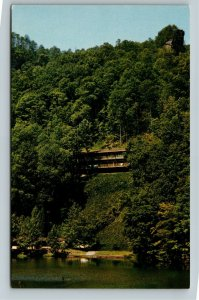 Slade KY- Kentucky, National Bridge State Park, Cabin, Lake, Chrome Postcard