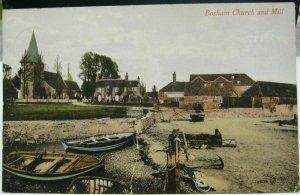 England Bosham Church and Mill - posted damaged 1916