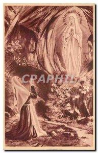 Old Postcard Lourdes Apparition