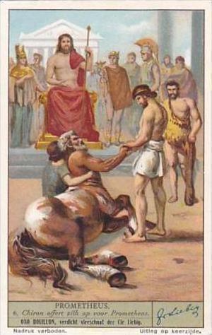 Liebig Vintage Trade Card S1299 Prometheus 1934 No 6