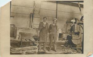 Factory Workers~Men~Metal Working~Drill~Press~Machining~Barrels~1912 RPPC
