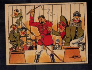 Mint WW2 USSR Soviet Union Postcard Joseph Stalin German Lion Tamer