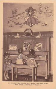 Virginia Norfolk Kindergarten Scene Saint Marys Infant Home Box 2002 Artvue