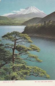 Mount Fuji, Japan and Pine Trees from Lake Motosu