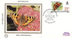 Tortoiseshell Butterfly Benham Stamp First Day Cover