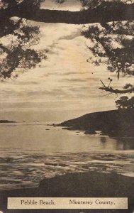 PEBBLE BEACH Monterey County, CA c1910s Vintage Postcard