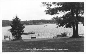 Harrison Michigan~Wilson State Park @ Budd Lake~Boy @ Lifeguard Stand~1940s RPPC