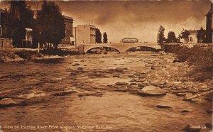 Reno Nevada 1911 Postcard View on Truckee River From Virginia St Bridge Trolley