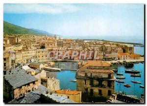 Modern Postcard Corsica unforgettable Bastia Port and Old Town