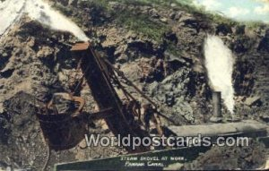 Steam Shovel at Work Panama Canal Panama Unused