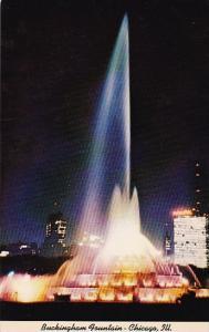 Illinois Chicago Buckingham Fountain At Night