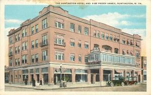 Huntington West Virginia~Hotel & Fire Proof Annex~Barber Shop Pole~1920s Adv PC
