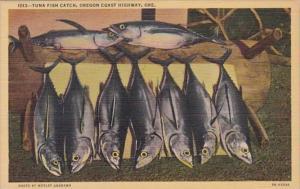 Oregon Tuna Fish Catch Oregon Coast Highway Curteich