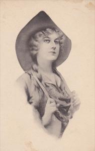 Woman wearing hat, 00-10s
