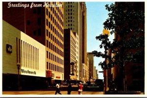 Texas Houston Downtown Main Street Woolworth