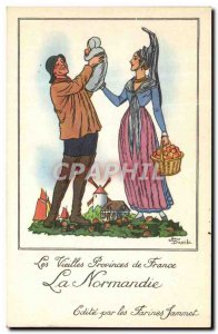 Modern Postcard The Old Provinces of France Normandy Advertisement Flour Jamm...