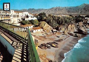 Spain Nerja Costa del Sol, Europe Balcony Balcon Boats Bateaux