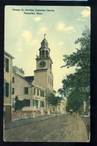 Nantucket, Massachusetts/Mass/MA Postcard, Unitarian Church, Cape Cod