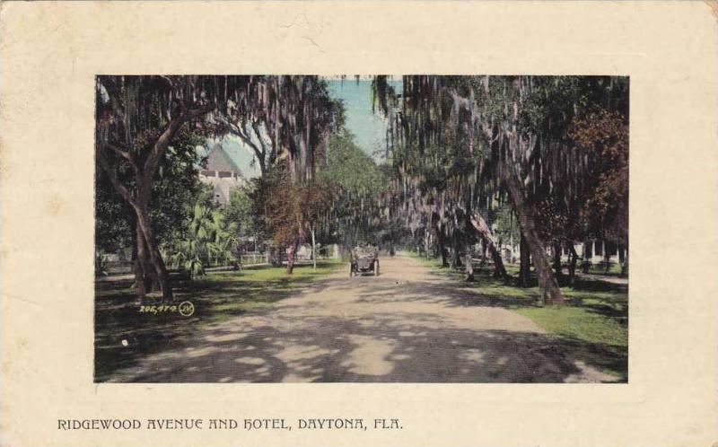 Dirt road to Ridgewood Avenue and Hotel,  Daytona, Florida, PU-00-10s