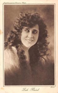 Leah Baird, American actress, curly long hair, Cinema Chat Postcard
