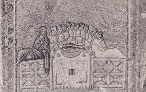 Italy Ravenna Basilica Di Saint Apollinare Nuovo Musaico Con Scene Della Vita...