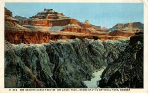 AZ - Grand Canyon National Park.  The Granite Gorge (Fred Harvey)