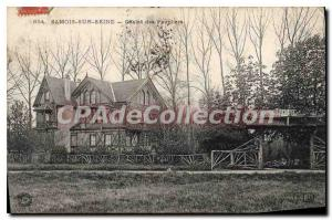 Postcard Old Samois sur Mer Camping Poplars