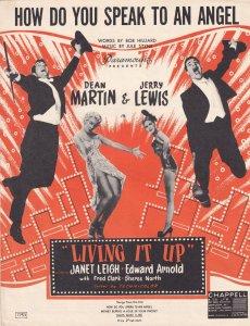 How Do You Speak To An Angel Dean Martin 1950s Sheet Music