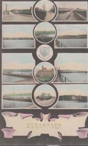 Stranraer Bridge Port Ship Boat River Antique Multi View Scottish Postcard