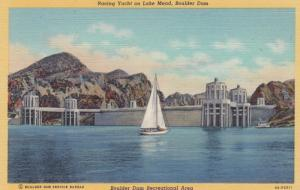 LAKE MEAD , Nevada , 1930-40s ; Raching Yacht , Boulder Dam