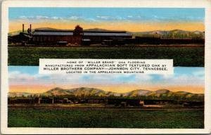 Johnson City TN~Miller Bros~Appalachian Soft Textured Oak~1940s Linen Split View