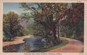 Greetings From Camp Atterburg Edinburg Indiana 1948