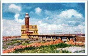 Vintage MONTEVIDEO, URUGUAY Postcard Faro de Punta Brava o de Carreta 1950s