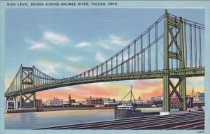 High Level Bridge Across Maumee River Toledo Ohio