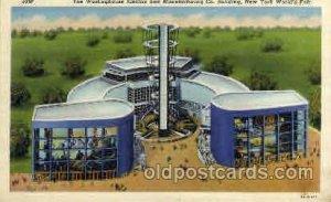 Westinghouse Bldg. New York Worlds Fair 1939 Exhibition Unused yellowing stai...